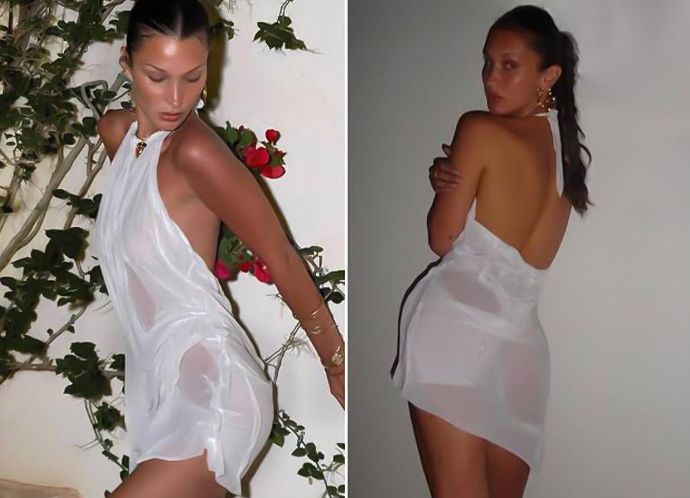 Bella-Hadid wearing Dimitra Pestsa Wetness