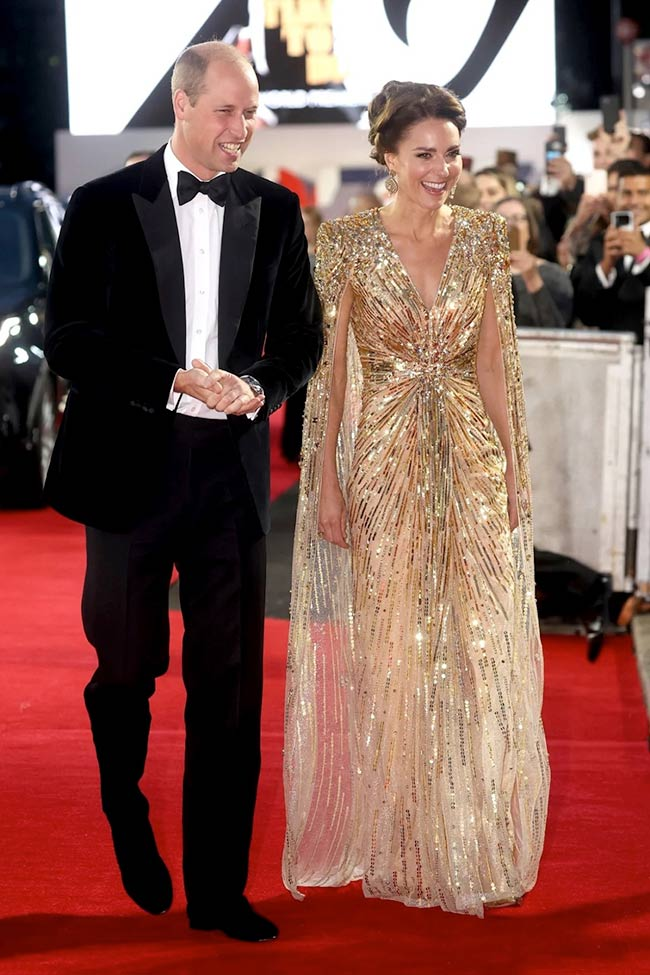 """The-Duke-and-Duchess-of-Cambridge,-Prince-William-and-Kate-Middleton at the Premiere Of the new James Bond """"No Time To Die"""""""